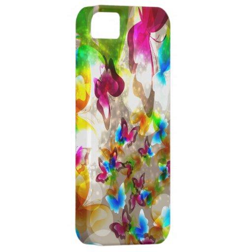 Mariposas abstractas iPhone 5 cárcasa