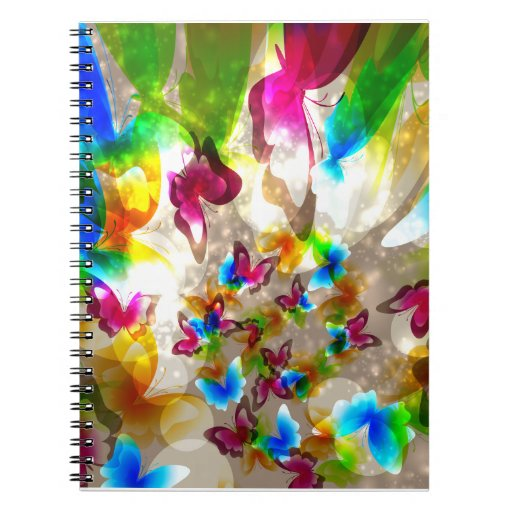 Mariposas abstractas libretas espirales