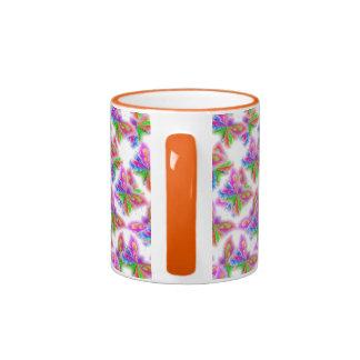 Mariposas abstractas (naranja) tazas