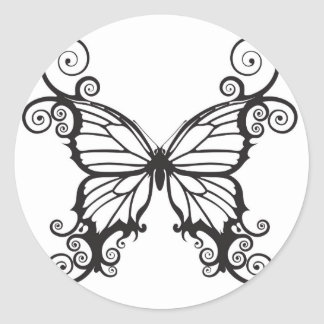 Mariposas abstractas pegatinas redondas