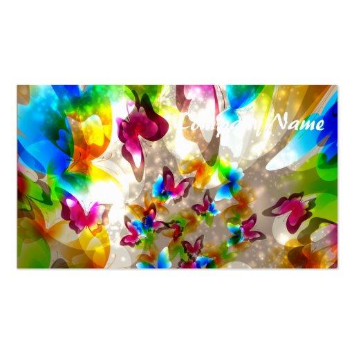 Mariposas abstractas tarjeta de visita