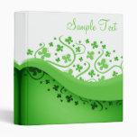 Mariposas abstractas verdes y blancas carpeta 2,5 cm