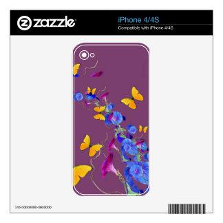 Mariposas, almohada del Puce de las correhuelas Calcomanías Para iPhone 4S