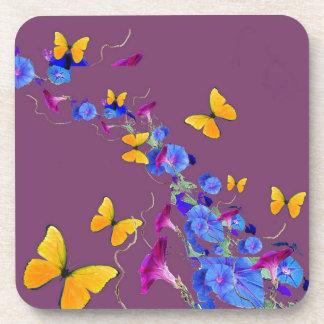 Mariposas, almohada del Puce de las correhuelas Posavasos