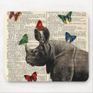 Mariposas alteradas Mousepad del rinoceronte del a
