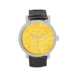 Mariposas amarillas reloj de mano
