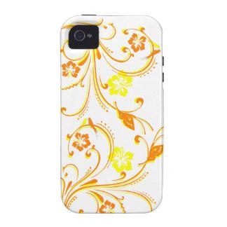 Mariposas anaranjadas caprichosas de los pájaros d Case-Mate iPhone 4 carcasa
