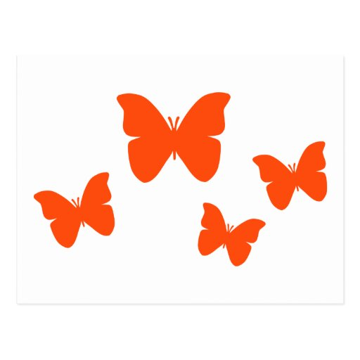 Mariposas anaranjadas tarjeta postal