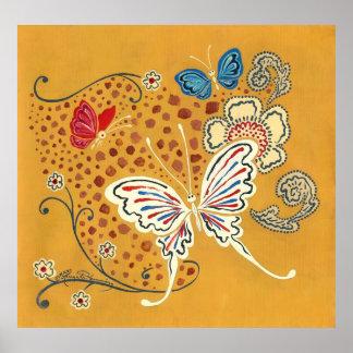 Mariposas artísticas de la fantasía posters