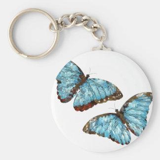 Mariposas artsy llavero personalizado