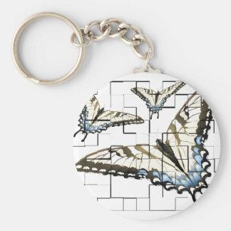 Mariposas artsy llavero redondo tipo pin