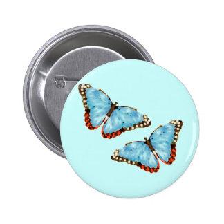 Mariposas artsy pin redondo de 2 pulgadas