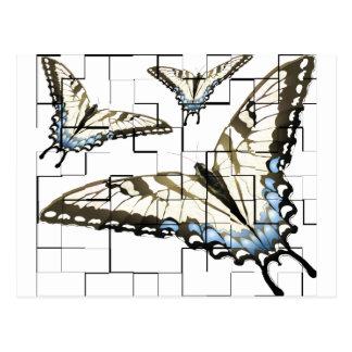 Mariposas artsy postal