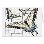 Mariposas artsy tarjeta