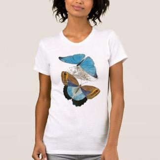 Mariposas - azul camisetas