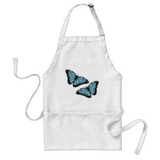 Mariposas azules artsy delantales