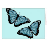 Mariposas azules artsy felicitaciones