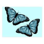 Mariposas azules artsy postal