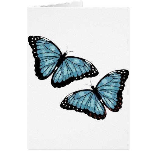 Mariposas azules artsy tarjetas