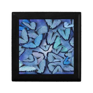Mariposas azules de Morpho Caja De Joyas