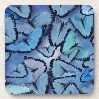 Mariposas azules de Morpho Posavasos De Bebidas