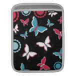 Mariposas azules del rosa bonito de la primavera p manga de iPad