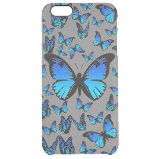 mariposas azules funda clearly™ deflector para iPhone 6 plus de unc