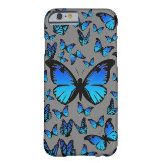 mariposas azules funda para iPhone 6 barely there