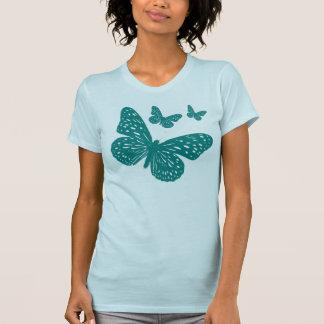 Mariposas azules lindas camiseta
