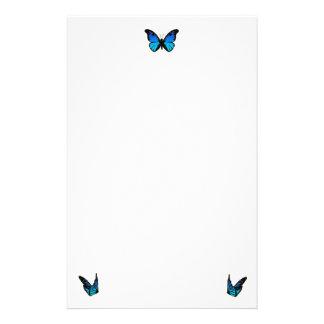 mariposas azules papelería