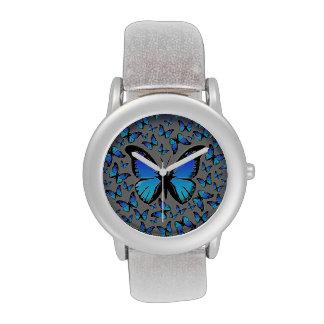 mariposas azules relojes