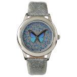 mariposas azules relojes de mano
