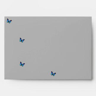 mariposas azules sobre