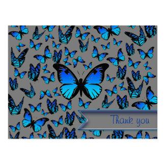 mariposas azules postal