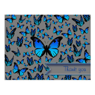 mariposas azules tarjeta postal