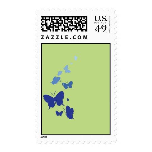 mariposas azulverdes sellos