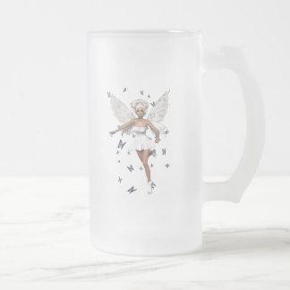 Mariposas blancas de hadas del azul del Minidress Taza De Cristal