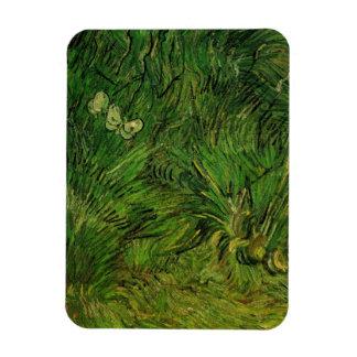 Mariposas blancas de Van Gogh dos, bella arte del Iman De Vinilo