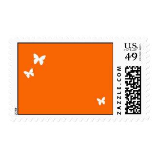 Mariposas (blancas/naranja) franqueo
