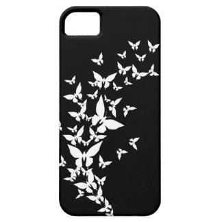 Mariposas blancas y negras iPhone 5 carcasa