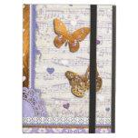 Mariposas bonitas de la púrpura y del oro y collag