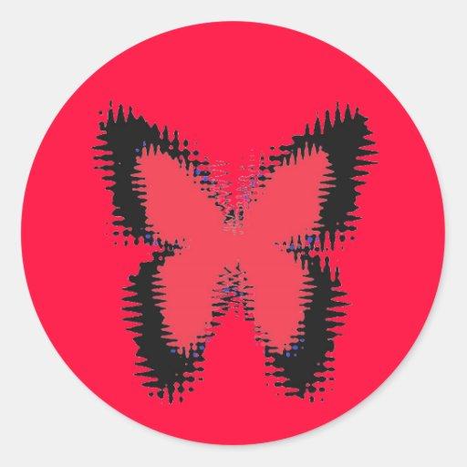 Mariposas borrosas pegatinas redondas