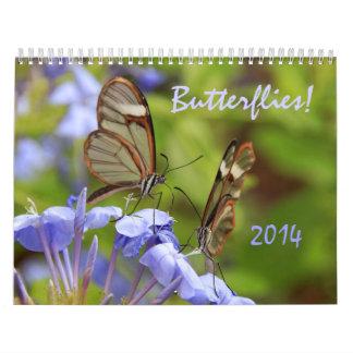 ¡Mariposas Calendario 2014 de la foto