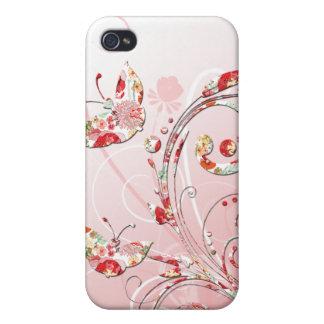 Mariposas caprichosas iPhone 4 funda