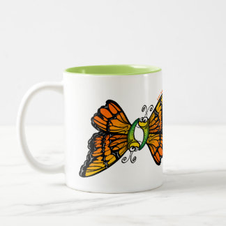 Mariposas cariñosas taza de café