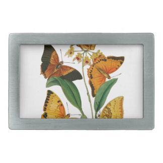 Mariposas chinas hebilla cinturon rectangular