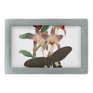 Mariposas chinas hebillas cinturon rectangulares