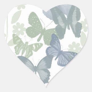 Mariposas ColorFixed Pegatina En Forma De Corazón