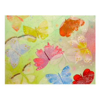 Mariposas coloridas bonitas tarjetas postales