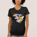 Mariposas coloridas camiseta